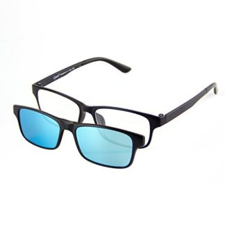 3e806898c0a30 Estás viendo  Cyxus filtro de luz azul gafas (lente transparente) con clip  on polarizado gafas de sol (azul polarizado lente) conjunto rectangular  marco ...