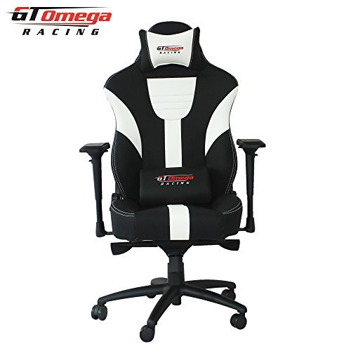 GT Omega Master XL - Silla de oficina de piel, diseño deportivo, colo