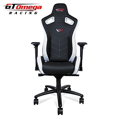GT Omega Deporte Silla de Oficina de Piel, diseño Deportivo, Color Bl